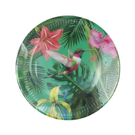 Truly Tropical Bright Paper Plates - pack of 2